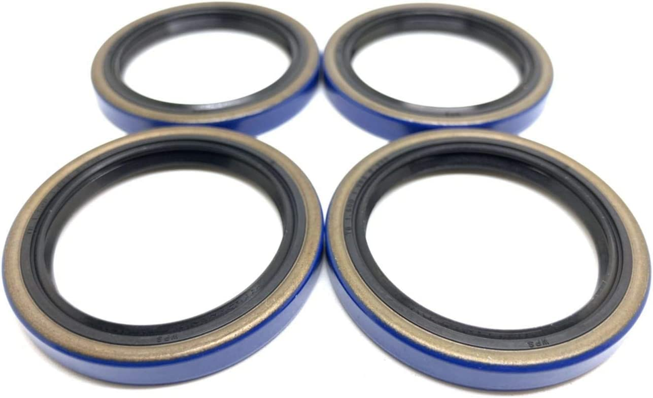 (Pack of 4) WPS Trailer Hub Wheel Grease Seal 15192TB (10-60) for 2000# Axles Double Lip 1.500'' x 1.987''