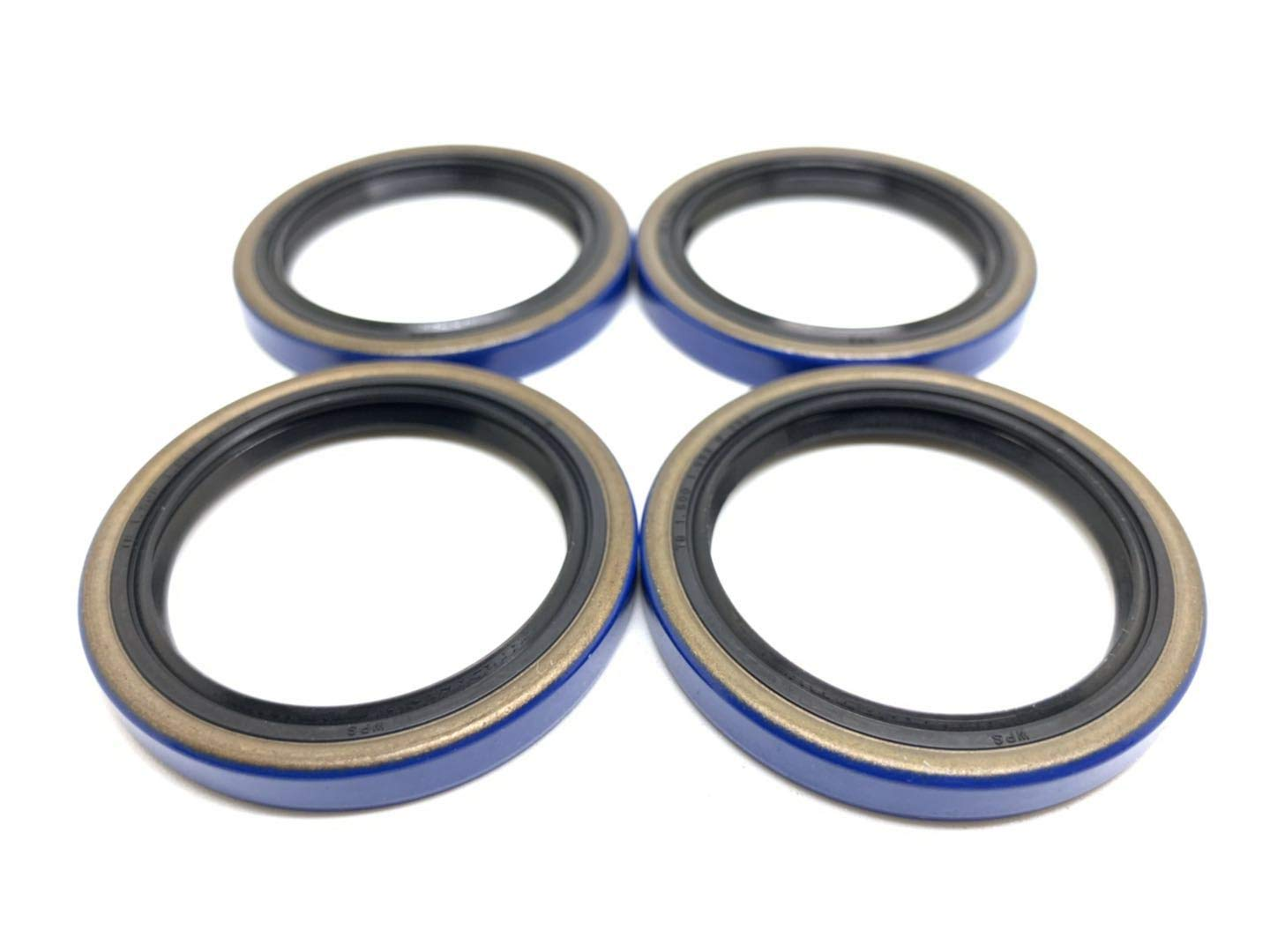 (Pack of 4) WPS Trailer Hub Wheel Grease Seal 15192TB (10-60) for 2000# Axles Double Lip 1.500'' x 1.987'' by WPS Western Power Sports
