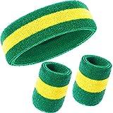 WILLBOND 3 Pieces Sweatbands Set, Includes Sports