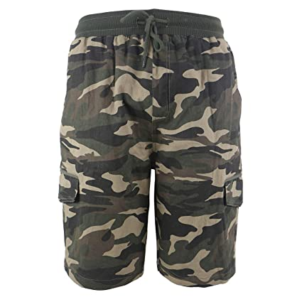 af288c364f Cargo Shorts for Men Elastic Waist Casual Cotton Twill Drawstring Relaxed  Fit Pants | Amazon.com