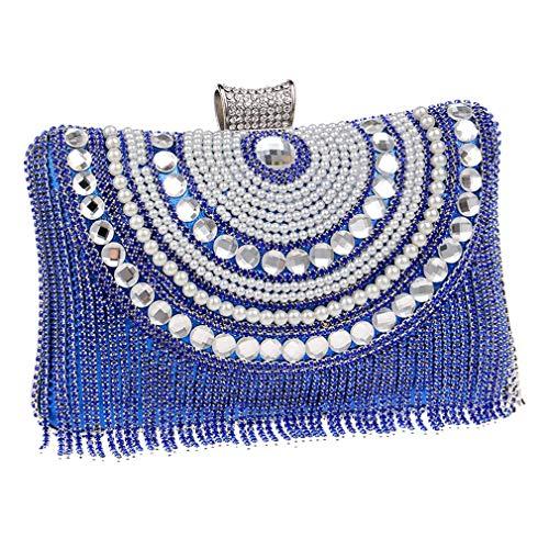 De Métal Soirée Embrayage Gland YANXH À Épaule Sacs Sac Strass Blue Main Soirée Perles Sac De Chaîne Diamants Messager De Sacs en Mariage xw4Y8YqC