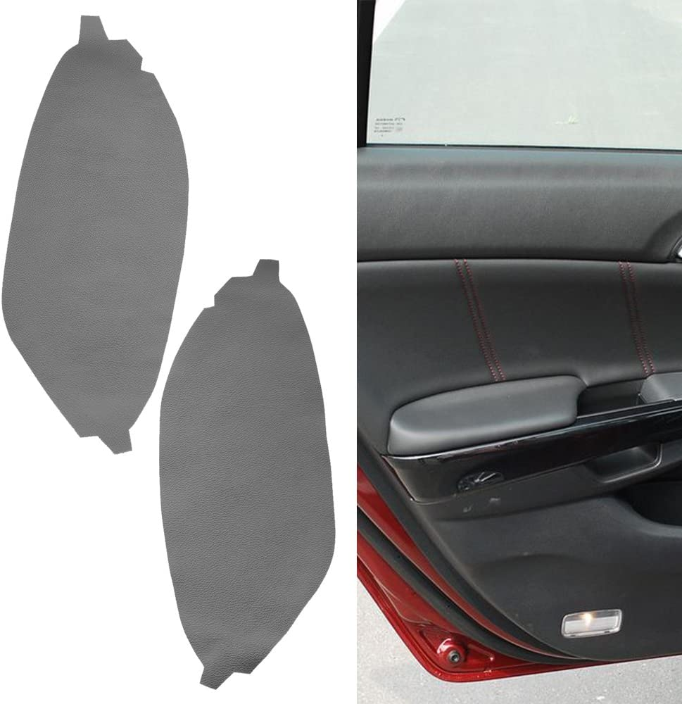 2x Front Door Panel Armrest Leather Cover Gray For Honda Accord 08-12 Left Right