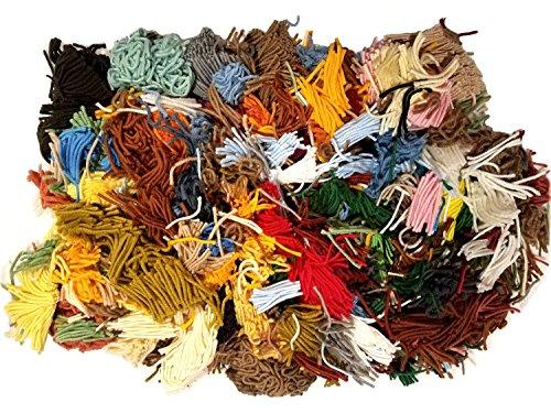 Vintage Latch Hook 100% Acrylic Precut Rug Yarn Assorted Brands (38oz., Assorted Loose Bulk)