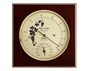 Wine Cellar Hygrometer & Thermometer 140 x 140 mm, 1225HT-22Fv2 °Fahrenheit-Version