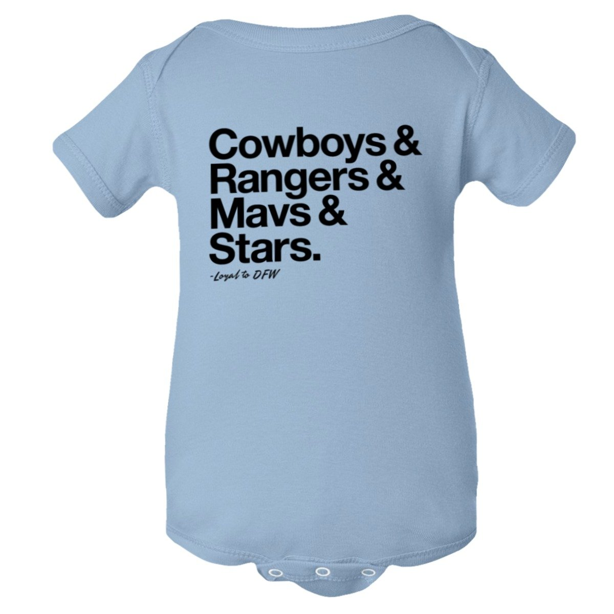 Baby Creeper Loyal Cowboys Rangers Mavericks Stars Sports 1Pc Onsie