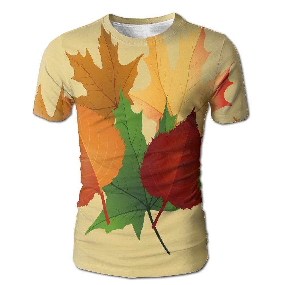 YOIGNG Hawaiian 3D Printed Maple Leaf Canadian T-Shirt Short Sleeve Crewneck Tee Pullover Casual Tops