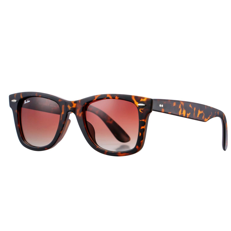 Polarized Sunglasses for Men 80's Retro Driving Sun Glasses Acetate Frame 100% UV (Brown) by Pro Acme