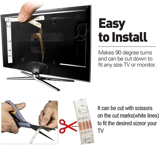 la cocina etc. kit de 2 tiras marca TECKIN a prueba de agua con control remoto decoraci/ón de luces LED para el hogar RGB 5050 con 16 colores. ideal para TV Tiras LED RGB de 10M la Navidad
