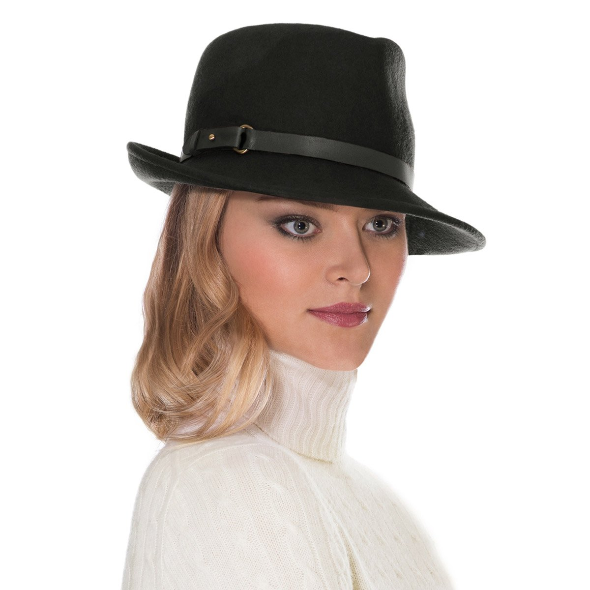 Eric Javits Luxury Fashion Designer Women's Headwear Hat - Wool Classic - Black