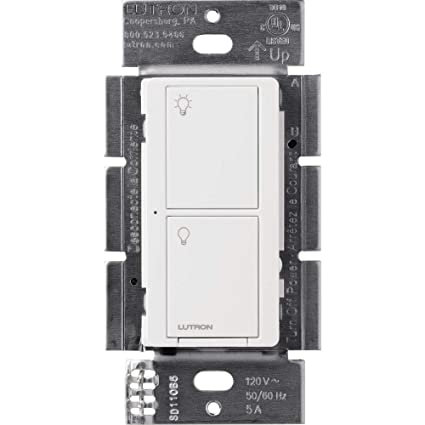 Lutron Caseta Wireless Smart Lighting Switch for All Bulb Types and Fans PD-5ANS-WH-R, White - - Amazon.com