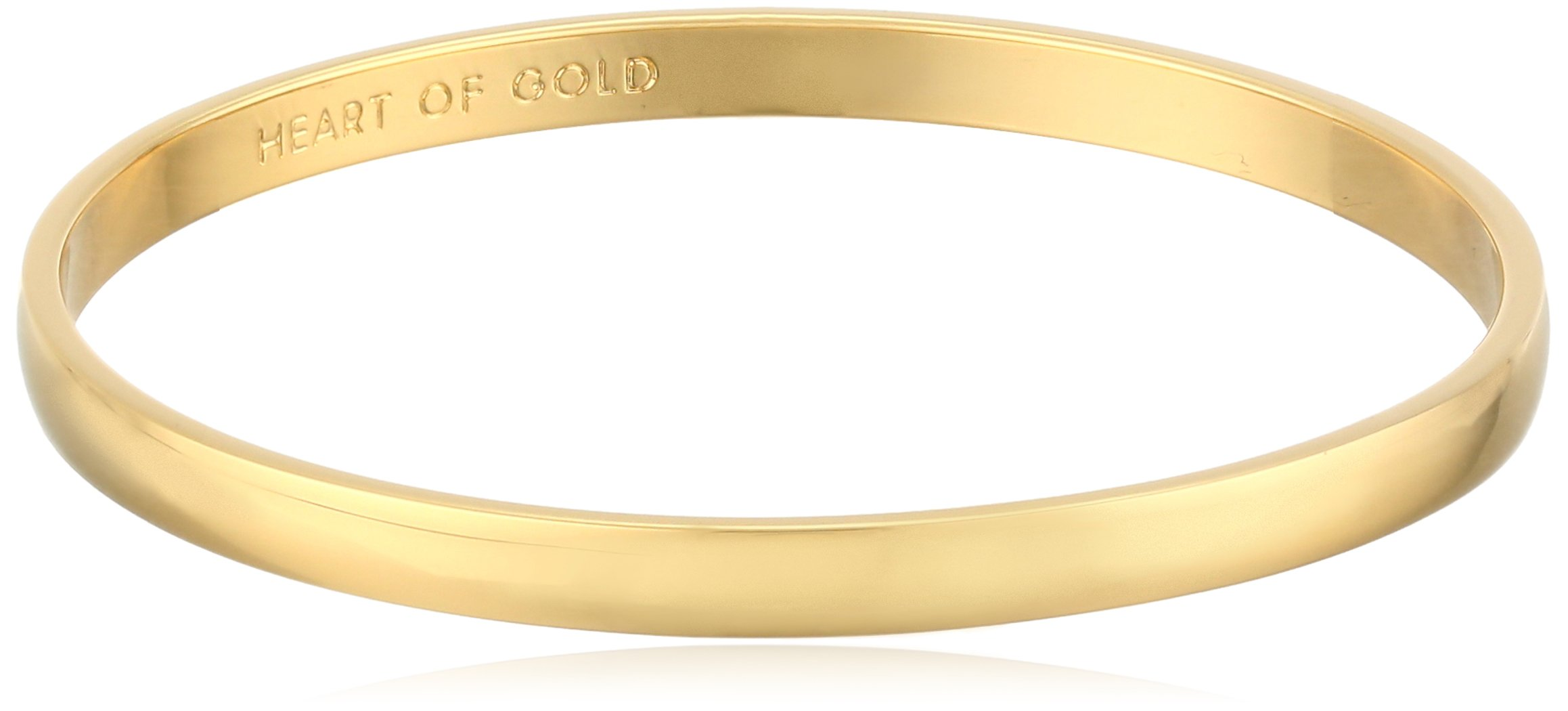 kate spade new york Idiom Collection ''Heart of Gold'' Bangle Bracelet, 7.75''
