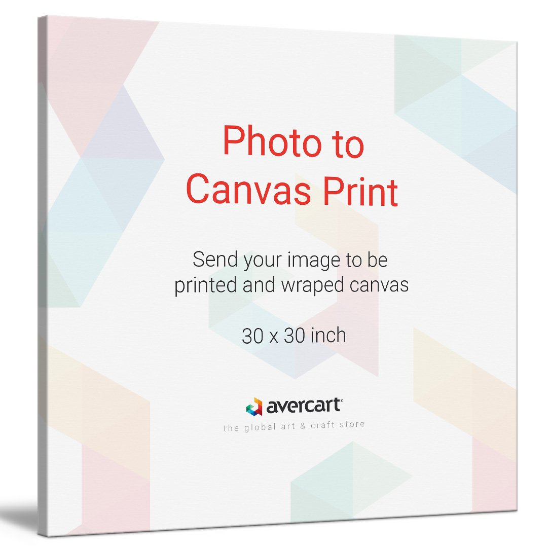 Avercart Photo to Canvas, Canvas Wall Decor, Canvas Gift, Custom Canvas Print, Family Photo on Canvas, Personalized Canvas Print (30x30 inch)