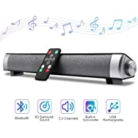 Yokartee SiLu Bluetooth Portable Wireless Speakers Sound Bar with Built-in Subwoofers