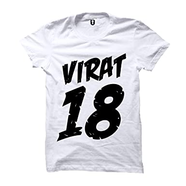 5a35d9fe Image Unavailable. Image not available for. Colour: Uniplanet Store Virat  Kohli White Number T-Shirt | 18 ...