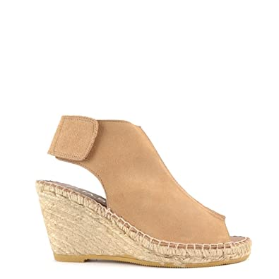 cd59dabc3f11 Elia B Shoes Quai Dessert Suede Wedge Sandal 39EU 6UK Desert  Amazon ...