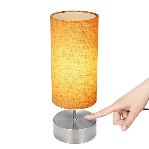 Lámpara Mesilla de Noche, Tomshine Lámpara de Mesa Decorativa de ...