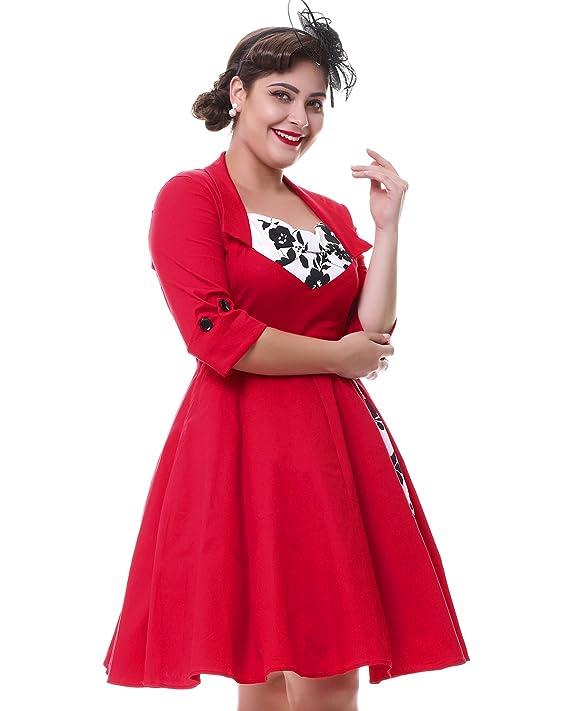 ZAFUL Mujer Vintage Vestidos sin Manga Elegant Vestido de Coctel Fiesta de Noche A-Line XL: Amazon.es: Ropa y accesorios