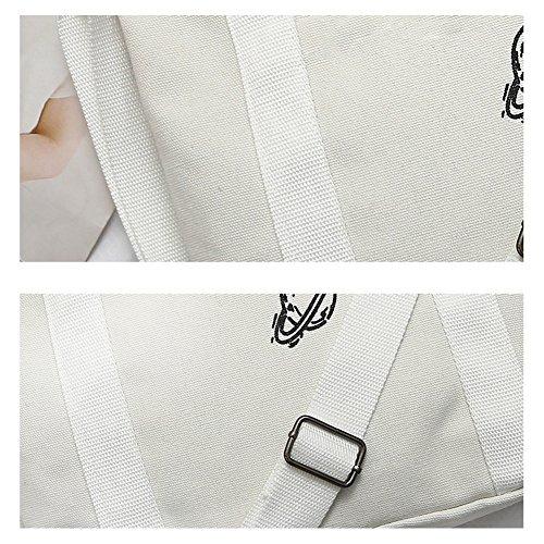 Single Bag Casual Canvas Etbotu Bag Women Stylish Shoulder Travel Black Printing Fashionable Bag Letters Crossbody qUOnBEn7T
