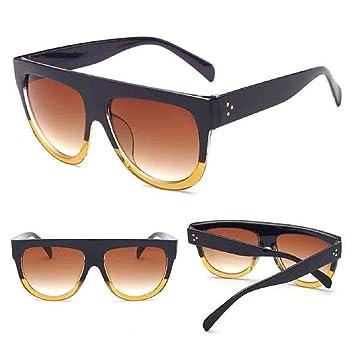 Lunettes de soleil,LHWY Nouveau carré Vintage en miroir lunettes de soleil lunettes lunettes de Sports de plein air (Or, K)