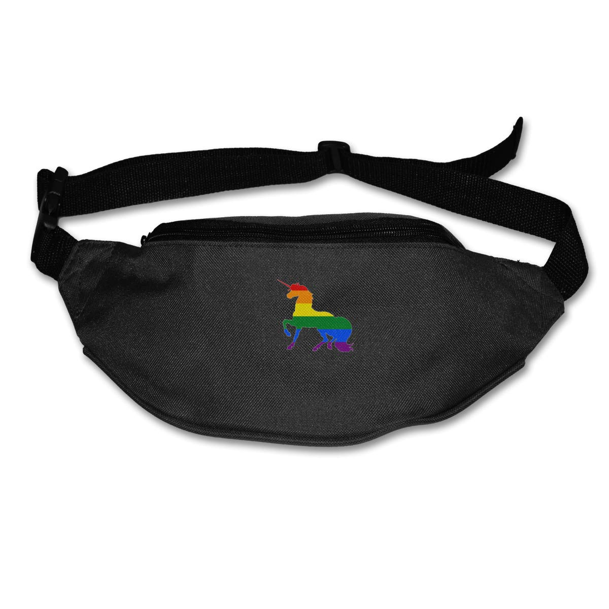 Gay Unicorn Flag Sport Waist Bag Fanny Pack Adjustable For Travel