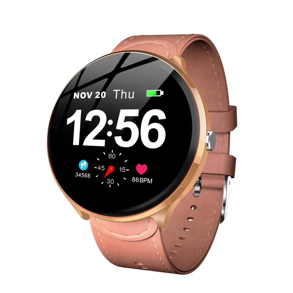ZHABB Smart Watch 1.3 Inch Full Touch Blood Pressure Oxygen Activity Tracker Heart Rate Monitor Fitness Bracelet Waterproof Smartwatch for Android.