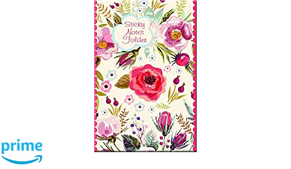Vintage Blooms Sticky Note Folder: Amazon.es: Gifted ...