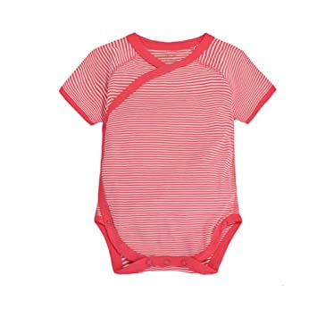 09524f59f7e5 CuteOn Infant Baby Summer Clothes Onesies Cotton Bodysuit - Short Sleeve  Kimono Style with Side Snaps