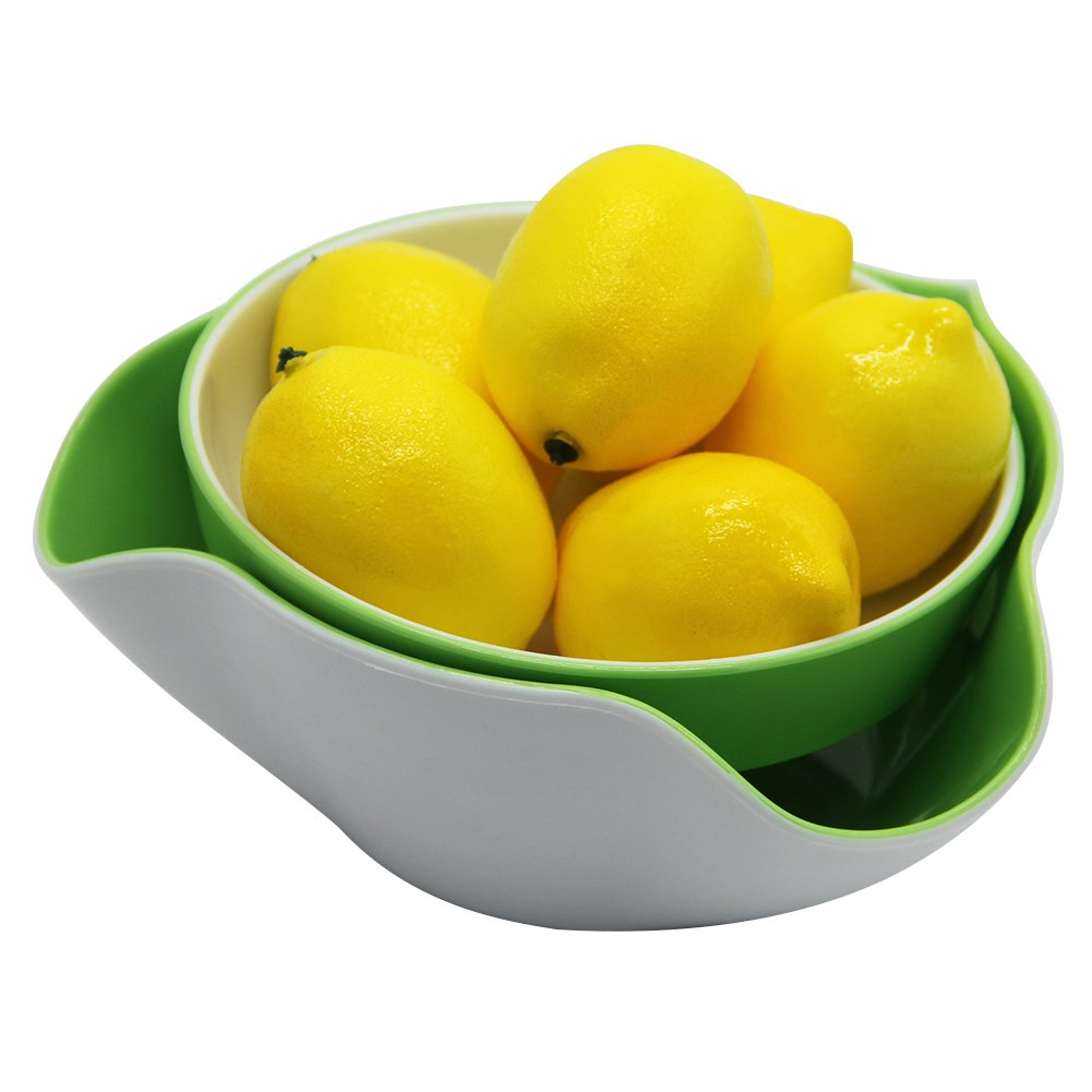 Maggift Green & White Double Dish Snack Bowls for Serving Shelled Nuts,Beans,Candy,Fruits and Salads (Green & White) by Maggift (Image #4)