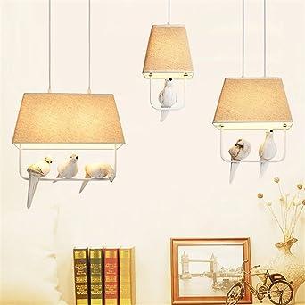 Cwill Vogel Pendelleuchten Vintage Lampe Harz Vogel Stoff
