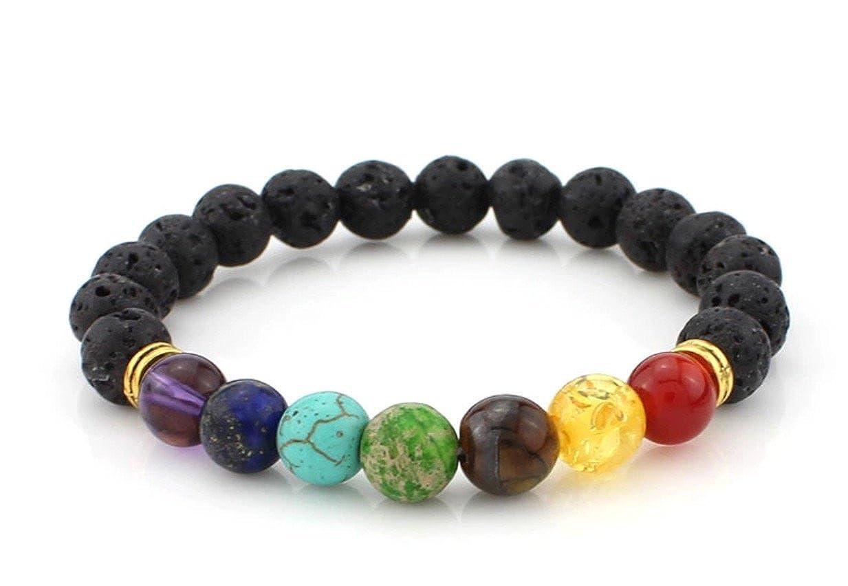 7 Chakra Lava Stone Diffuser Bracelet Paperworks10