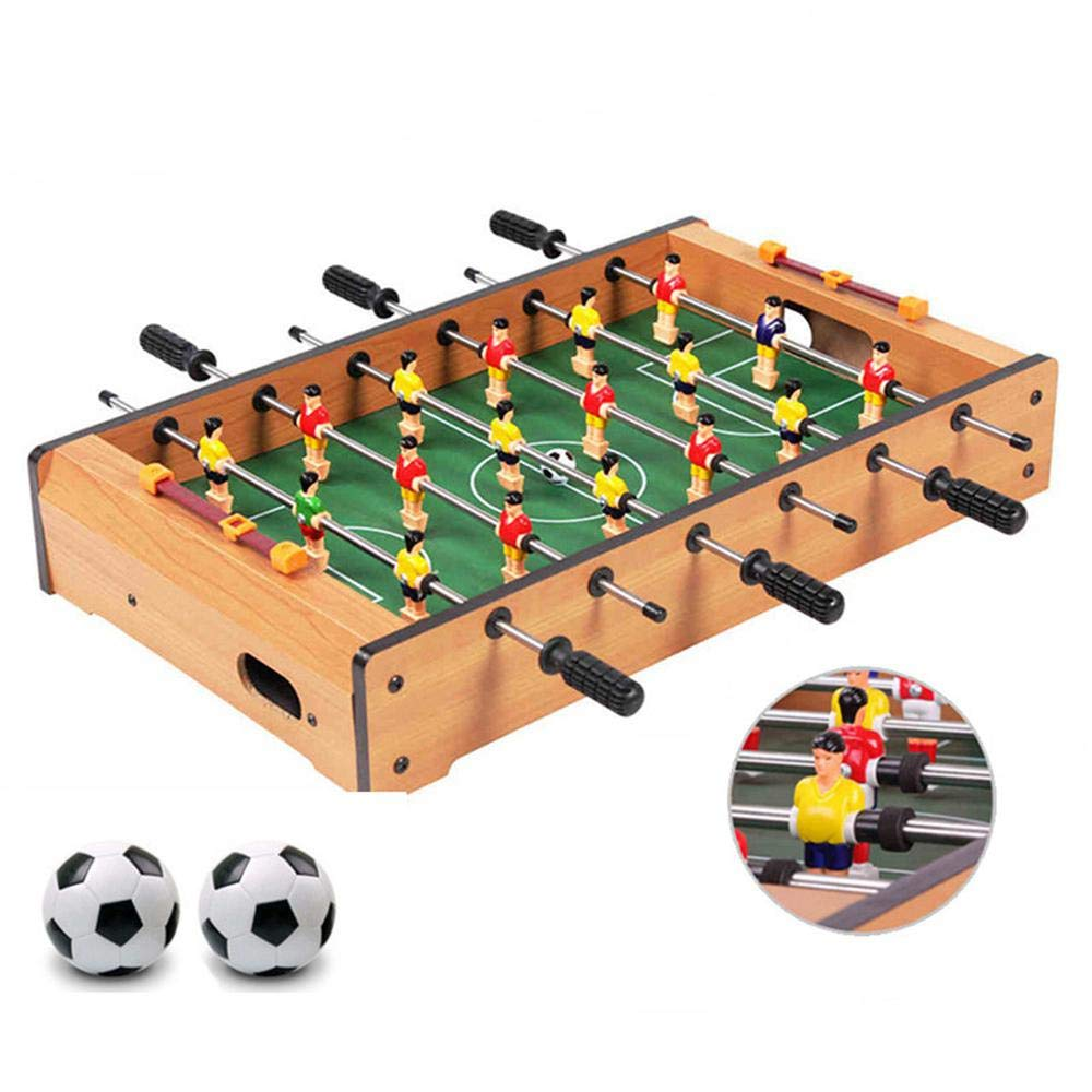 """Tabletop Foosball Table, Portable Wooden Mini Four-Bar Hand Soccer Set Adults Kids Recreational Board Game - for Game Rooms, Arcades, Bars, Family Night(13.6"""" 8.9"""" 2.76"""")"""