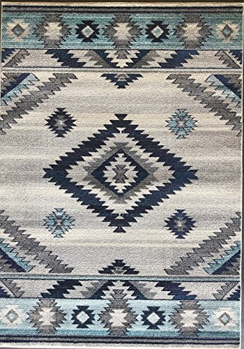(Expressions South West Native American Indian Area Rug Turquoise Purple Beige Blue Brown Design 1033 (5 Feet X 7 Feet))