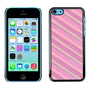 Be Good Phone Accessory // Dura Cáscara cubierta Protectora Caso Carcasa Funda de Protección para Apple Iphone 5C // Pink Purple Horizontal