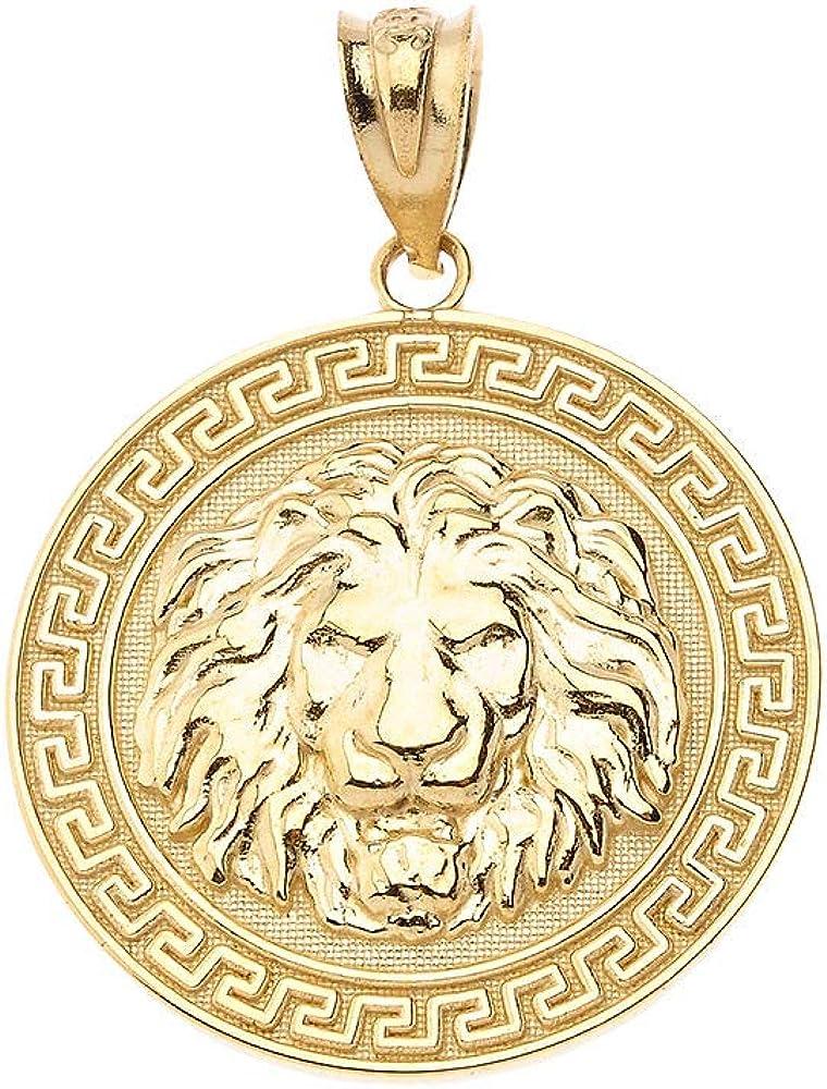 Gold Greek Key Pendant