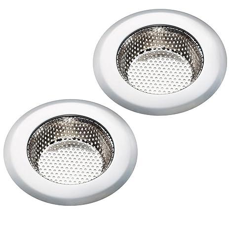 Amazon.com: Kitchen Sink Strainer, 2PCS Stainless-Steel Kitchen Sink ...