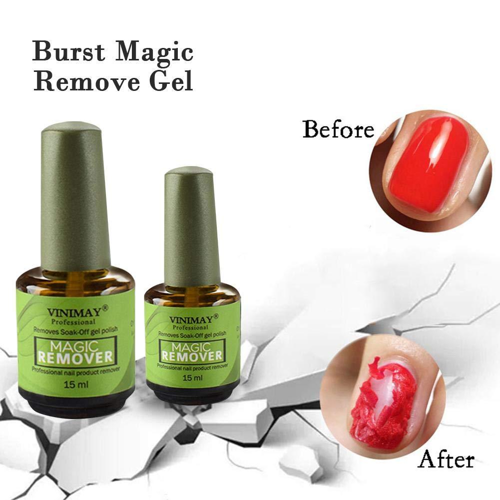 15ml Nail Polish Remover Magic Soak Off Gel Nail Polish Removing Glue Professional Removes For Nail Art Lacquer Nail Bursting Removal Liquid Not Hurt Your Nails Amazon De Beauty