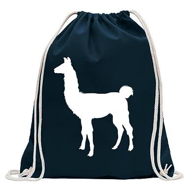 KIWISTAR - Lama Alpaca Kamel Turnbeutel Fun Rucksack Sport Beutel Gymsack  Baumwolle mit Ziehgurt