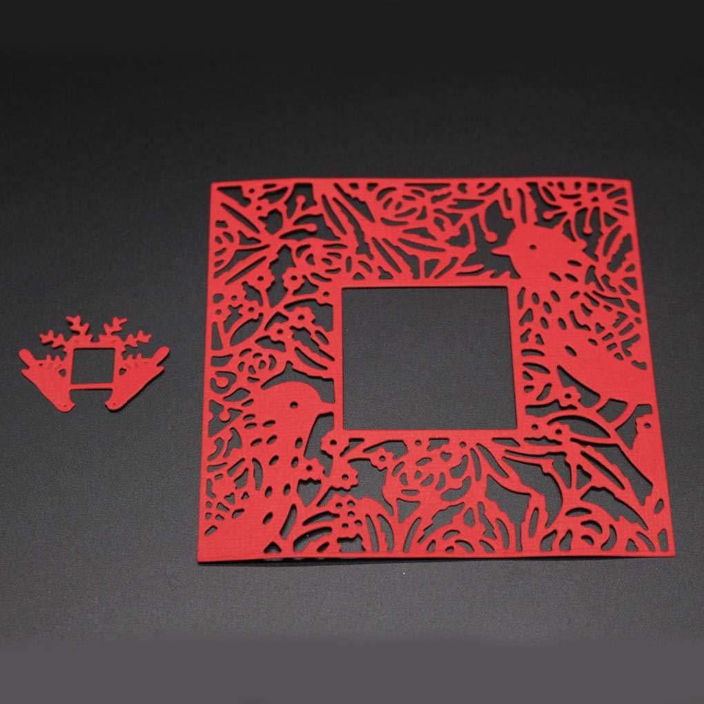 Aiming Corona de tallar Engranajes de Aves cumplea/ños Dies DIY Scrapbooking /Álbum de Fotos l/ámina Decorativa Plantillas de moldes