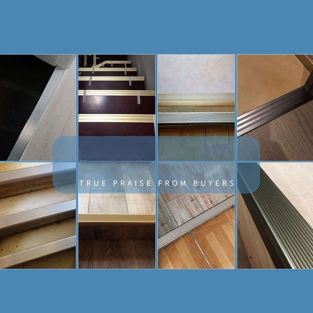 W50/×H30/×L900MM GWXFHT Building Products L Type Non-Slip Aluminum Alloy Threshold Strip Floor Decorative Strip Floor Edge Strip Doorway Blanking Strip Color : C