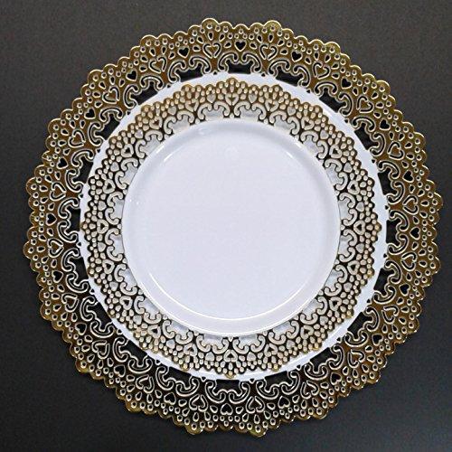 Elegant Disposable Plastic Dinnerware Plates ... & Elegant Disposable Plastic Dinnerware Plates Hard \u0026 Reusable Real ...