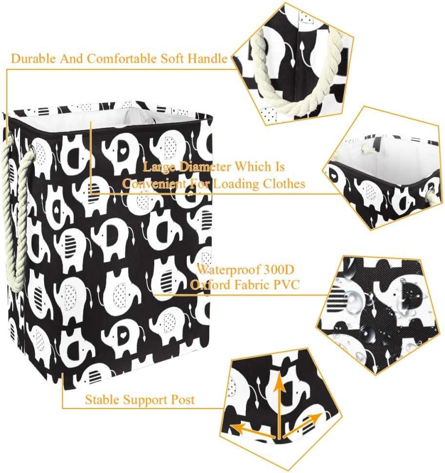 Indimization Panda Mignon Sac à Linge Rectangle en Tissu Oxford avec poignées Panier de Rangement Haute capacité 49x30x40.5 cm Color9