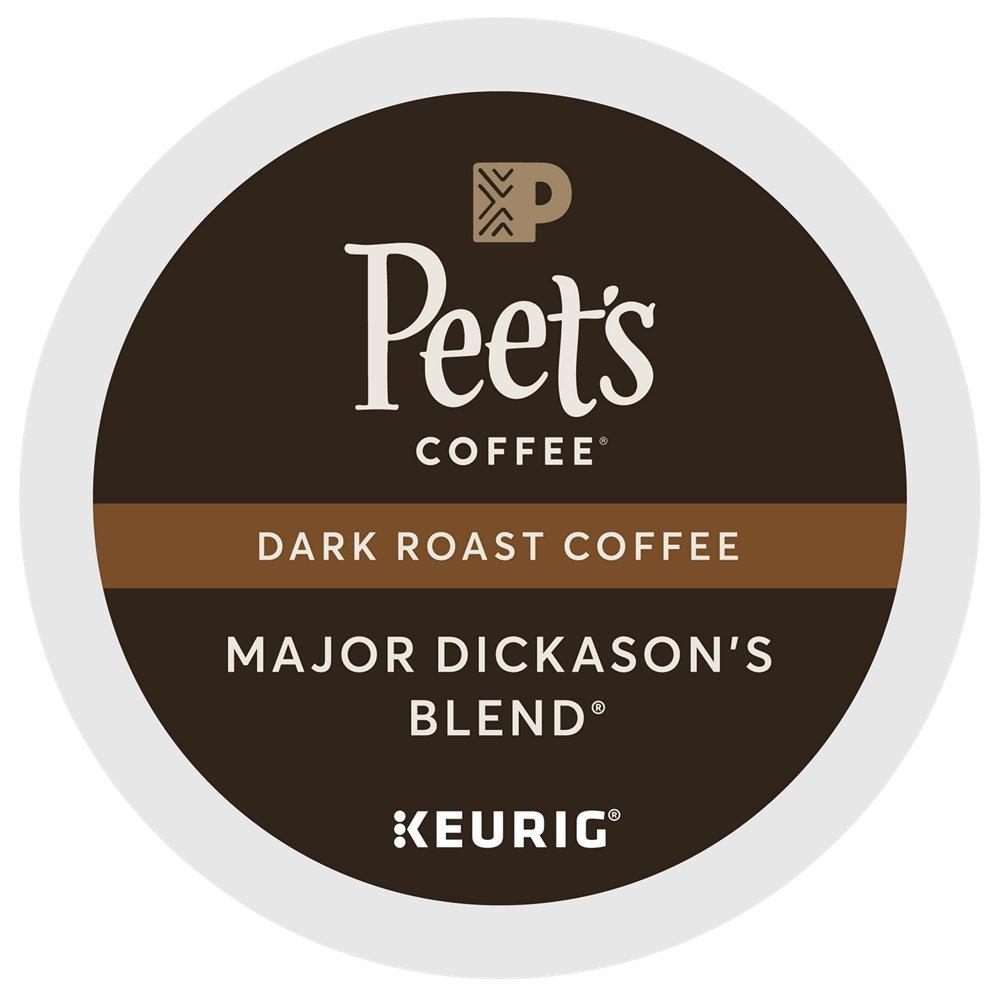 Peet's Coffee Major Dickason's Blend Dark Roast for Keurig K-Cup Brewers (88 Count) - Packaging May Vary