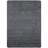 Ottomanson Luxury Collection Solid Rug Non-Slip/Rubber-Backing Kitchen Area Bath Rug, 33 X 50, Grey