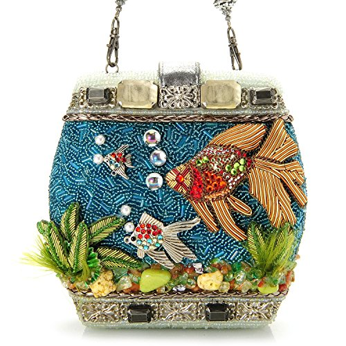 Mary Frances Hand Beaded Fish Bowl Beaded Jeweled 3 Dimensional Purse Clutch Shoulder Bag by Mary Frances