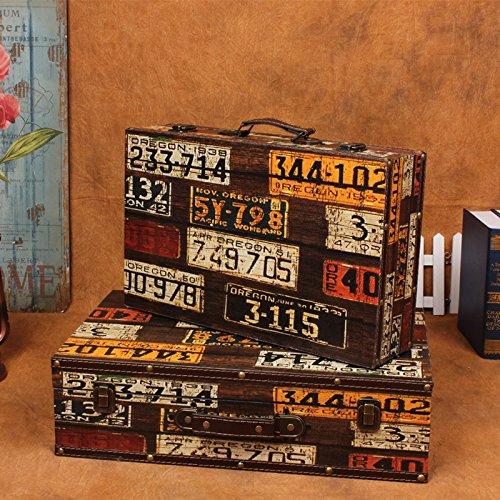 XBR Maleta antigua, retro Maleta, maleta retro y viejo caso Photography prop,1306 maletas dos piezas: Amazon.es: Hogar