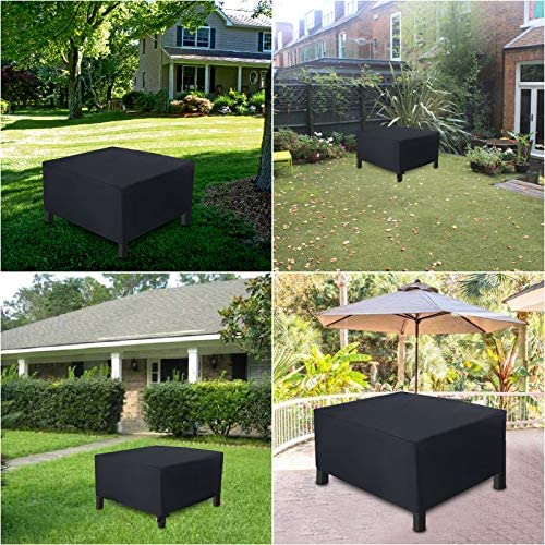 Tomaced Patio Furniture Covers,420D Oxford Square Patio Table Cover,Outdoor Furniture Cover, Waterproof, Wind-Proof, Anti-UV for Garden, Table Chair or Sofa (Square,76x76x28inch)