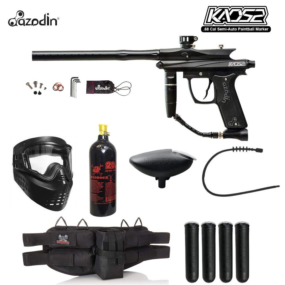 MAddog Azodin KAOS 2 Silver Paintball Gun Package - Black by MAddog