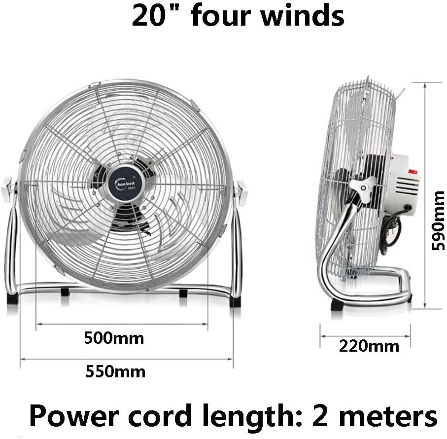 Ventilador Industrial, Ventilador de Pedestal, Ventilador de pie, Ventilador de Piso eléctrico de enfriamiento Casas, oficinas y dormitorios (Negro/Plateado): Amazon.es: Hogar