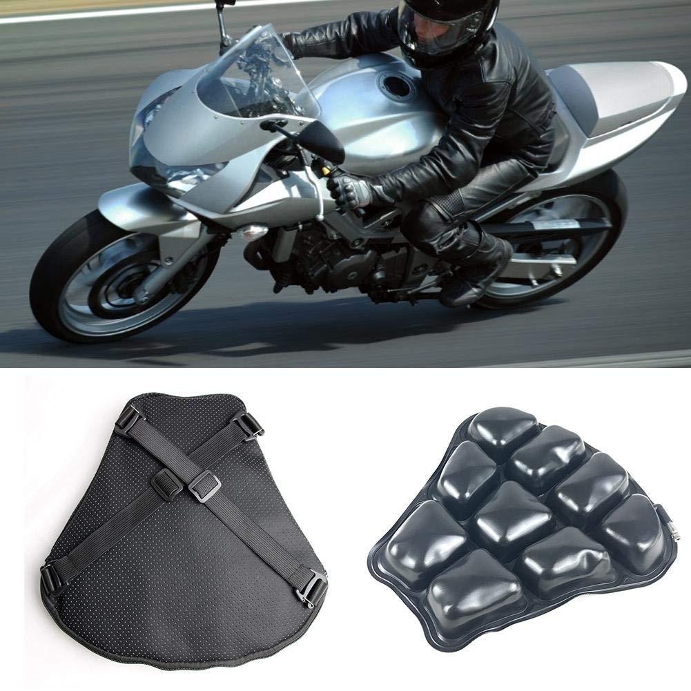 Kathariiy Cuscino Sella Confort per Moto Aria Tampone Passeggeri Posteriore Indietro Rider Cuscino del Passeggero 32x32cm Improved