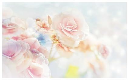 Carta Da Parati Fiori Rosa : Carta da parati fotografica rose fiore rosa bianco da parete 2701ve